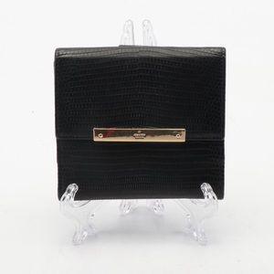 Gucci Black Lizard Leather Bifold Wallet